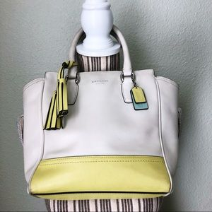 Coach 48894 Mini Tanner Leather Color Block Yellow